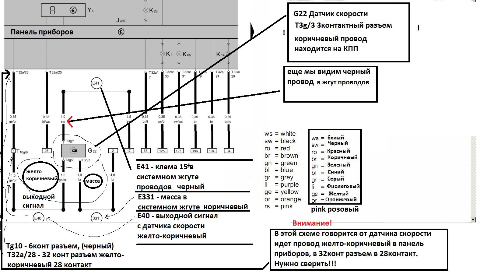 Схема подключения датчика скорости на ваз